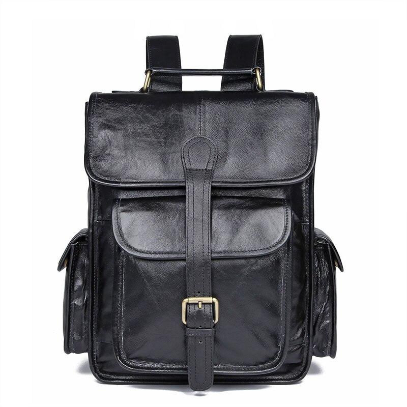 Men/'s New Genuine Leather Vintage Backpack Satchel Briefcase Laptop Rucksack Bag