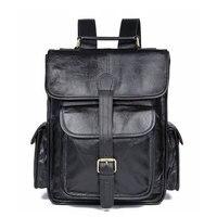 Bagpack Genuine Leather Laptop Backpack Men Schoolbag Men's Bag 7283C 1/7283A
