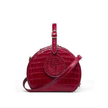 gete New style crocodile skin belly small round bag single shoulder bag cross-body bag for women leather handbag gete 2016 new import thailand siamese real crocodiles belly female shoulder bag handbag inclined shoulder women shell bag page 7