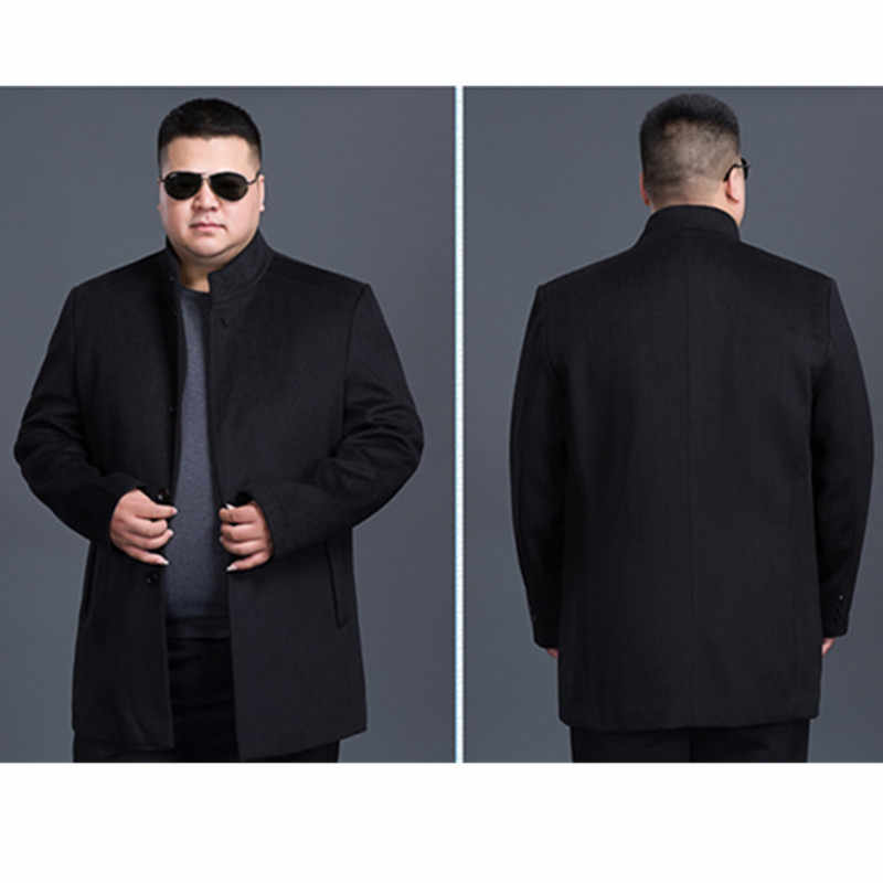 8xl7xl 6xl 5xl 4xl 새로운 겨울 모직 롱 피코트 남성 슬림 피트 캐주얼 두꺼운 오버 코트 남성 따뜻한 윈드 브레이커 트렌치 코트 자켓