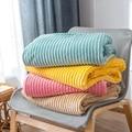 Супер мягкие стеганые фланелевые одеяла  однотонные полосатые норковые одеяла  покрывала для дивана  зимние теплые одеяла