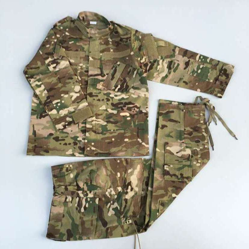 Manufacturers Direct Selling Foreign Children Winter Camp Camouflage Long-sleeve Suit Outward Bound Childrenswear Camouflage Cur