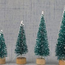 1PCS DIY Christmas Tree Small Pine Tree Mini Trees Placed In The Desktop Home Decor Christmas Decoration Kids Gifts(China)