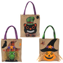 Halloween Candy Cookies Dessert Tote Bag Pumpkin Black Cat Ghost Bags Non-Woven Fabric Party Decoration Sweet Small Gifts Bags(China)