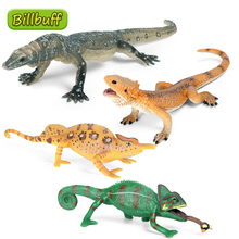 New Simulation Wild Animal lizard Model PVC Chameleon Action Figures Collection Model Cognitive Educational toy for children Kid