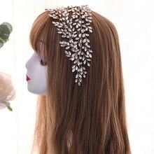 Свадебный обруч для волос topqueen свадебный аксессуар с кристаллами