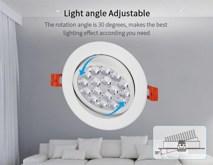 Fut062 milight miboxer 9w rgb + cct led teto spotlight