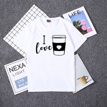 Hillbilly New Fasion I Love Letter Print T shirt Women Summer Short Sleeve O Neck Cup Couple Tops for Girl Tee Shirts Female