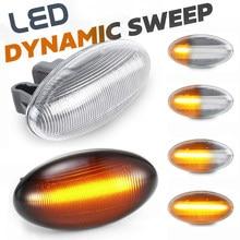 Indicador lateral de señal de giro para coche, luz LED intermitente para Citroen Berlingo Xsara Picasso Jumpy Elysee Crosser Dispatch C1 C2 C3 C4 C5