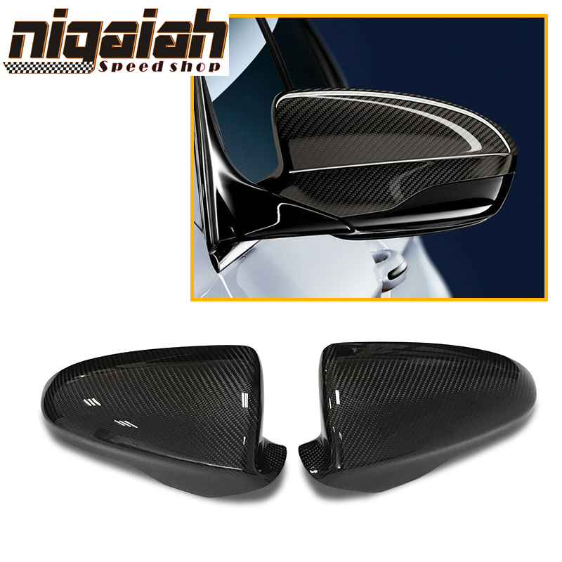 Replacement Carbon Fiber Door Side Mirrors Set for BMW F10 M5 /& F06 F12 F13 M6