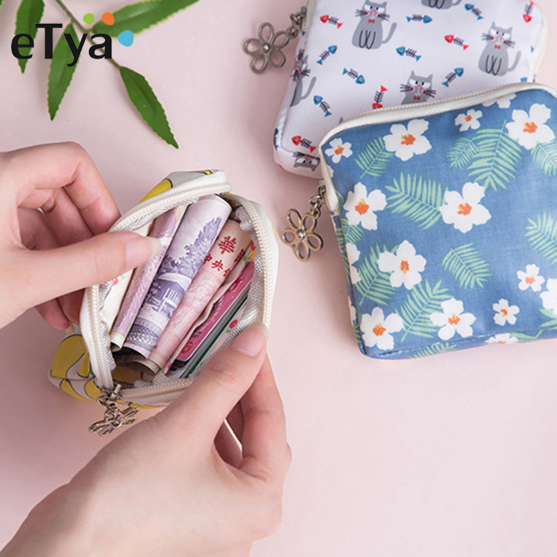 Cartoon Girls Kids Coin Purse Card Key Headset Mini Purses Pouch Canvas Bag Women Children's Pocket Small Zipper Coin Wallet