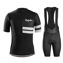Raphaing cycling Jersey suit Mens Bicycle 2019 Summer New Pro Team Bike Suit Short Sleeve bib Maillot Ropa Ciclismo Triathlon
