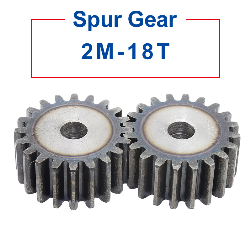 1 Piece spur Gear 2M18Teeth rough Hole <font><b>10</b></font> mm <font><b>motor</b></font> gear 45#carbon steel Material High Quality pinion gear Total Height <font><b>20</b></font> mm image