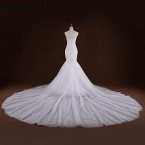 Image 2 - Mermaid Lace Appliques Wedding Dress Long Train Beading Bridal Gown robe de mariee Wedding Gown vestido de noiva YY105