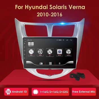 Für Hyundai accent Solaris Verna i25 auto dvd IPS Android mit gps navigation radio video auto stereo multimedia player