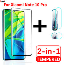 2-in-1 Screen Protector For Xiaomi Redmi mi Note 10 Pro 9 Lite Tempered Glass For Redmi Note 8 7 Pro 8A S2 Back Camera Lens Film(China)
