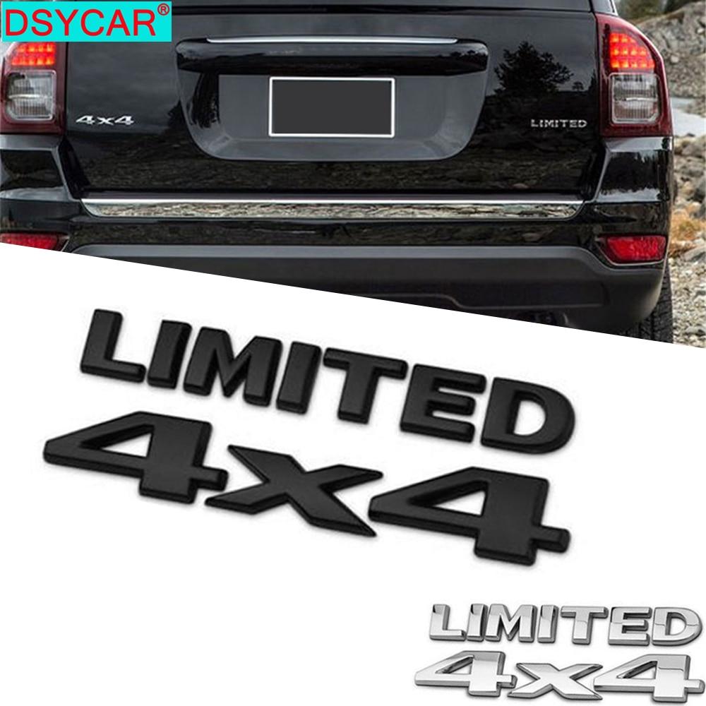 DSYCAR 1 ensemble 3D Chrome voiture autocollants 4x4 limité queue emblème Badge décalcomanies voiture carrosserie autocollant pour Jeep Grand Cherokee Wrangler Ford