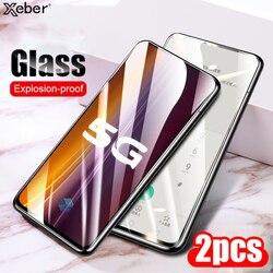 2 sztuk 9D pełny klej zakrzywione szkło hartowane dla Xiaomi Mi 8 9 SE 9T 10 10T Lite 5X 6X POCO X2 X3 M2 Pro zabezpieczenie ekranu Film