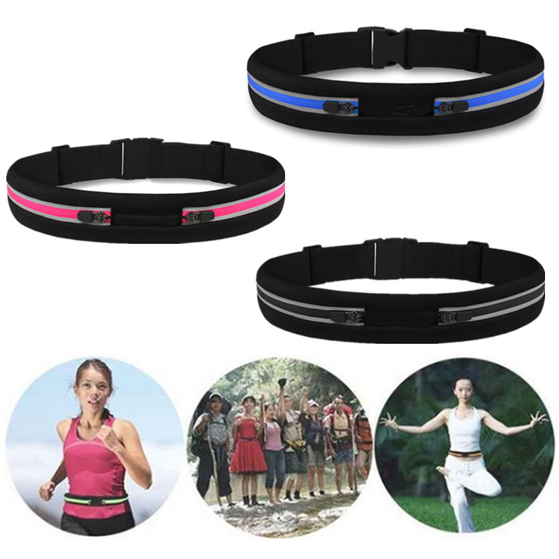 Slim Running Waist Bag Waterproof Mobile Phone Holder Jogging Belt Ultra Light Waist Pouch Fitness Workout Sport Accessories