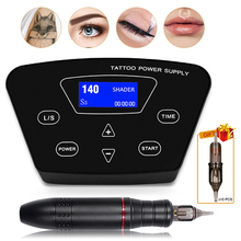 New Powerful P300 Permanent Makeup Tattoo Machine Kit Rotary Pen For Eyebrows Lips Microblading DIY Kit With Tattoo Needles