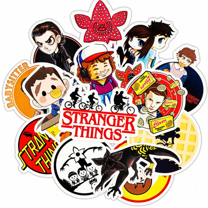30pcs/Lot 2019 Stranger Things Dustin Eleven Stickers Decal For Snowboard Luggage Car Fridge Laptop Sticker Kids PVC Toy