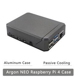 Чехол Argon NEO Raspberry Pi 4 Модель B корпус из алюминиевого сплава раздвижная Магнитная крышка GPIO ссылка пассивное охлаждение Тонкий чехол