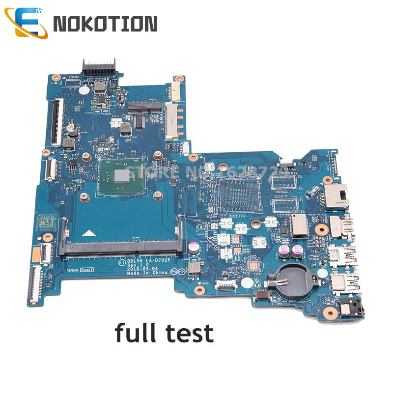 NOKOTION Original 854944-601 854944-001 854943-601 854943-001 Laptop Mainboard For HP 250 G5 15-AY Motherboard BDL50 LA-D702P