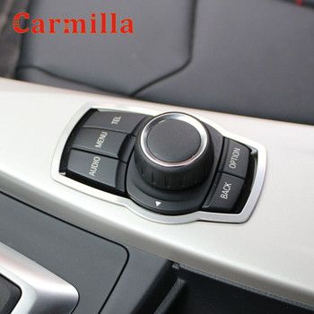 Carmilla Stainless Steel Interior Refit Multimedia Buttons Cover Trim for BMW X1 X3 X5 X6 F20 F01 F30 F15 F34 F31 Accessories image