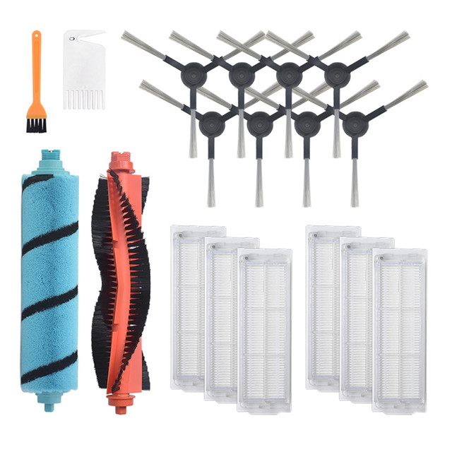 Main Brush Roller Brush Side Brushes for Conga 3490 HEPA Filter Cleaning Mop Pad for Cecotec Conga 3490 Vacuum Cleaner