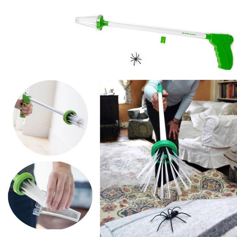 Critter Catcher Hand-held Insect Catching Spider Trap Artifact Insect Grabber Travel Friendly Humane Trap Centipede