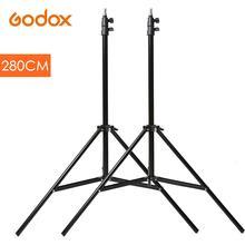 2 * Godox 280cm 2,8 m 9FT Pro pesado Luz de tungsteno de Fresnel luz estación de TV estudio fotográfico Trípodes para fotografía