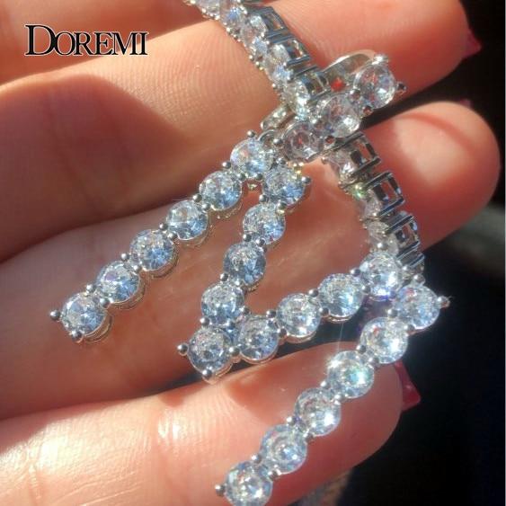 5mm Tennis Chain Zircon Tennis A-Z Letters Necklaces & Pendant For Men/Women Gold Silver Color Fashion Hip Hop Jewelry 6