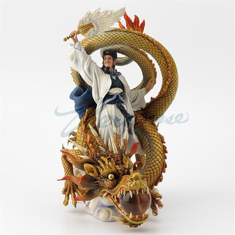 Style chinois zénorme Liang équitation Dragon Statue Romance de trois royaumes héros personnages Sculpture résine artisanat décor à la maison R2317