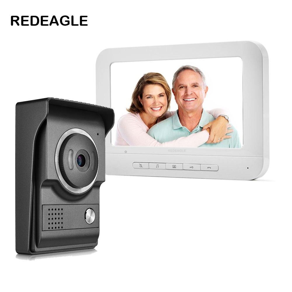 Thuis Bedraad Video Deurtelefoon Deurbel Intercom Systeem Met 7 Inch Lcd Monitor & Regendicht Nachtzicht Camera