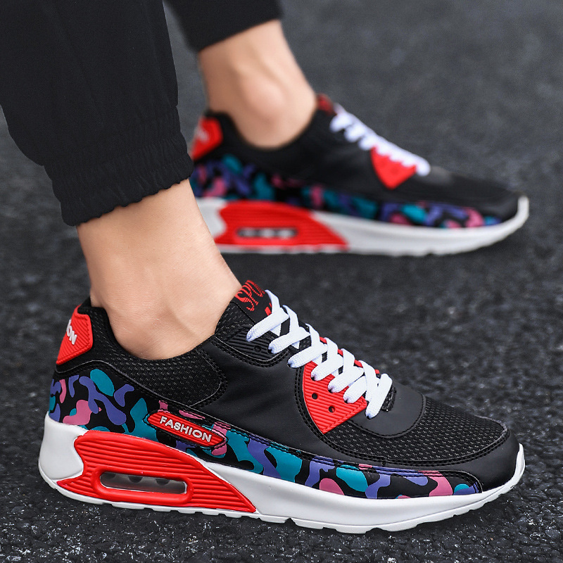 2019 New Autumn Men Shoes Air Mesh Sports Leisure Tide Running Colorful Sneakers Large size 45 46