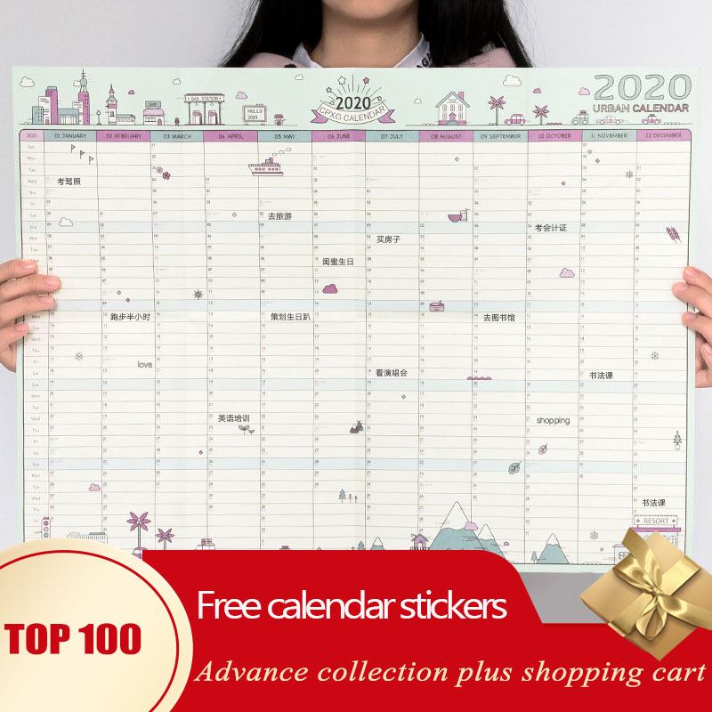 Calendar 2020 Planner Novedades Desk Monthly Organizer Agenda Papeleria Wall Agendas Office Supplies Periodic Table Pegatinas