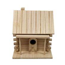 Casa de pájaros de madera caja de cría de pájaros al aire libre nido Hut juguete para mascotas