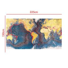 150x225cm Non-woven Map Seismicity Of The Earth World Ocean Floor Panorama 1960-1980 For Research In Geology And Geography
