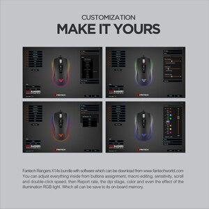 Image 5 - Fantech X14S光学調節可能な4000dpi 7Dマクロプロフェッショナル有線ゲーミングマウスマウスゲーマー不可欠人間工学