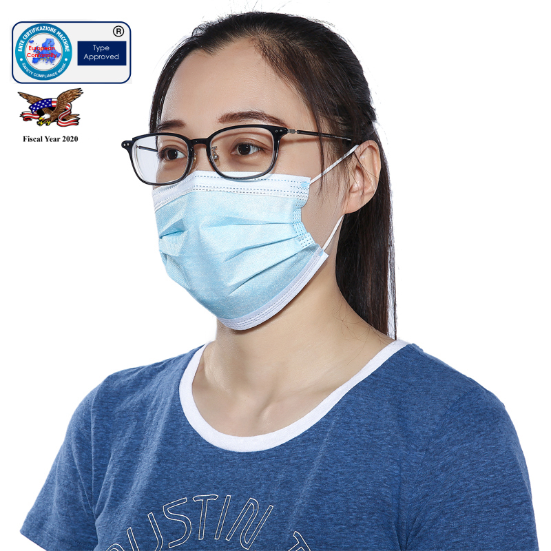 10Pcs 3 Filter Mask Protect Mask Mouth Face Mask Surgical Anti-Dust Anti Pollution Glasses Protect Clothing Adults And Children