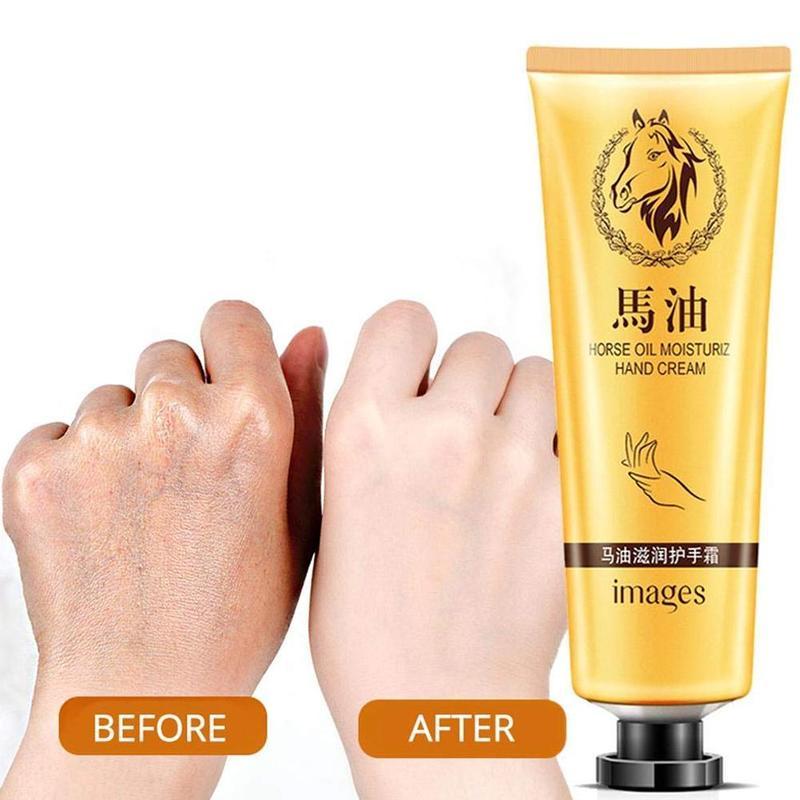1PC Horse Oil Repair Hand Cream Moisturizing Skin Whitening Hand Cream Skincare Nourishing Cream