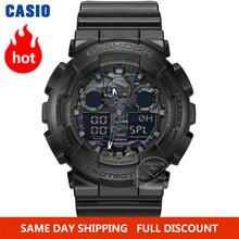 Đồng hồ Casio nam g shock top sang trọng thiết lập quân đội Chronograph LED đồng hồ kỹ thuật số thể thao Không thấm nước thạch