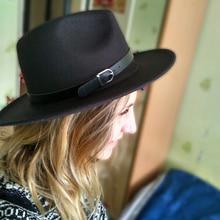 Fedora Hat Women Winter Felt Hats Men  Imitation Woolen Fashion Black