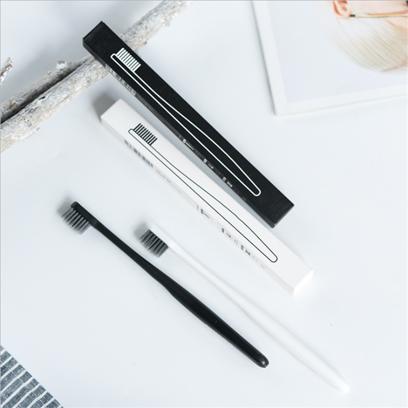 1pcs charcoal toothbrush portable soft bristle toothbrush Eco Friendly brush oral cleaning care tools household supplies image