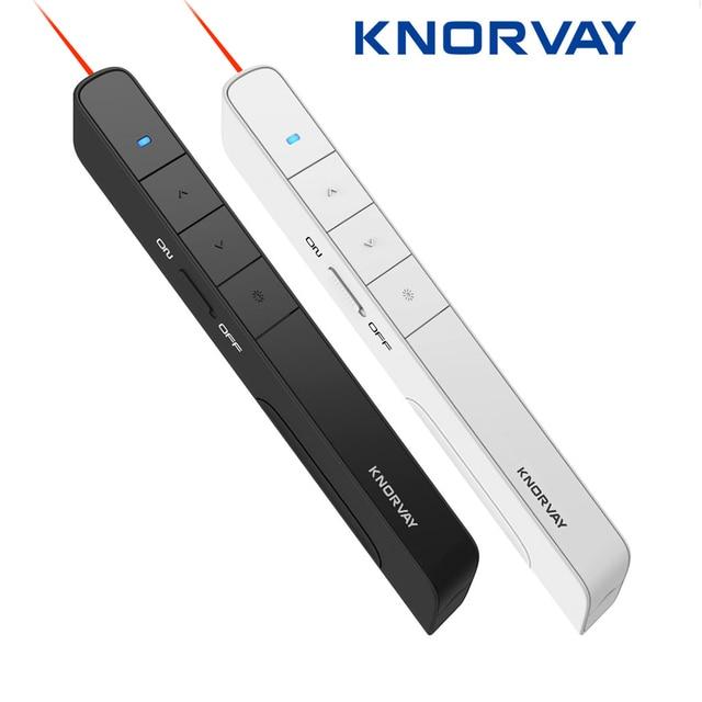 Knorvay N36 2.4GHz אלחוטי מגיש עט USB שלט רחוק Powerpoint מגיש מצגת Clicker PPT מצביע לייזר עט