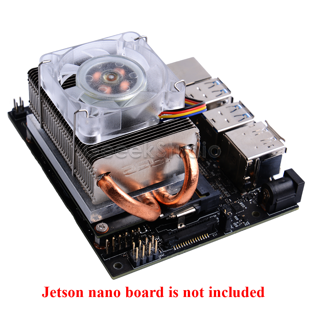 Ice Tower Cooling Fan Super 7 Colors RGB Changing Light For NVIDIA Jetson Nano Developer Board