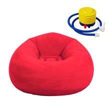 Zmywalny wygodny rozkładany salon dekoracja wnętrz dmuchana dmuchana Sofa krzesło worek fasoli kanapa składana sypialnia Ultra miękka