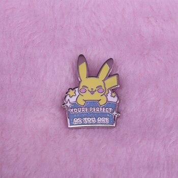 Jesteś idealny, ponieważ jesteś pin emalia pin Kawaii błyszczące kurtki plecak decor