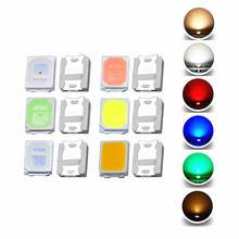 100 pces 2835 smd diodo emissor de luz lâmpada chip contas de luz quente branco fresco vermelho verde azul amarelo cor diy