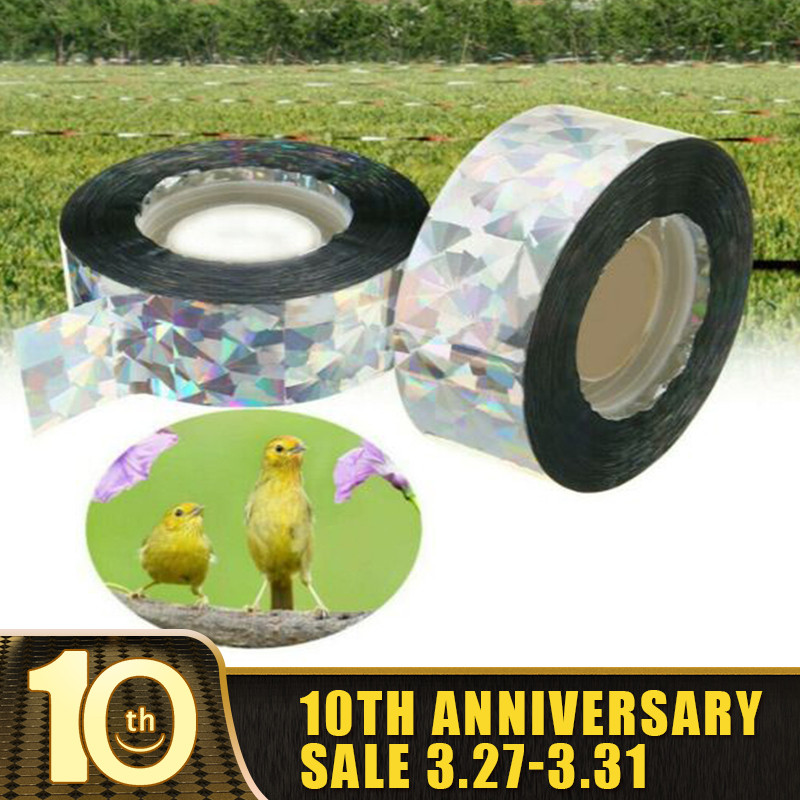 Anti Bird Tape Bird Scare Tape Audible Repellent Fox Pigeons Repeller Ribbon Tapes For Pest Control 90M